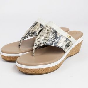 Cole Haan Cecily Grand Thong Python Sandal 10 NEW